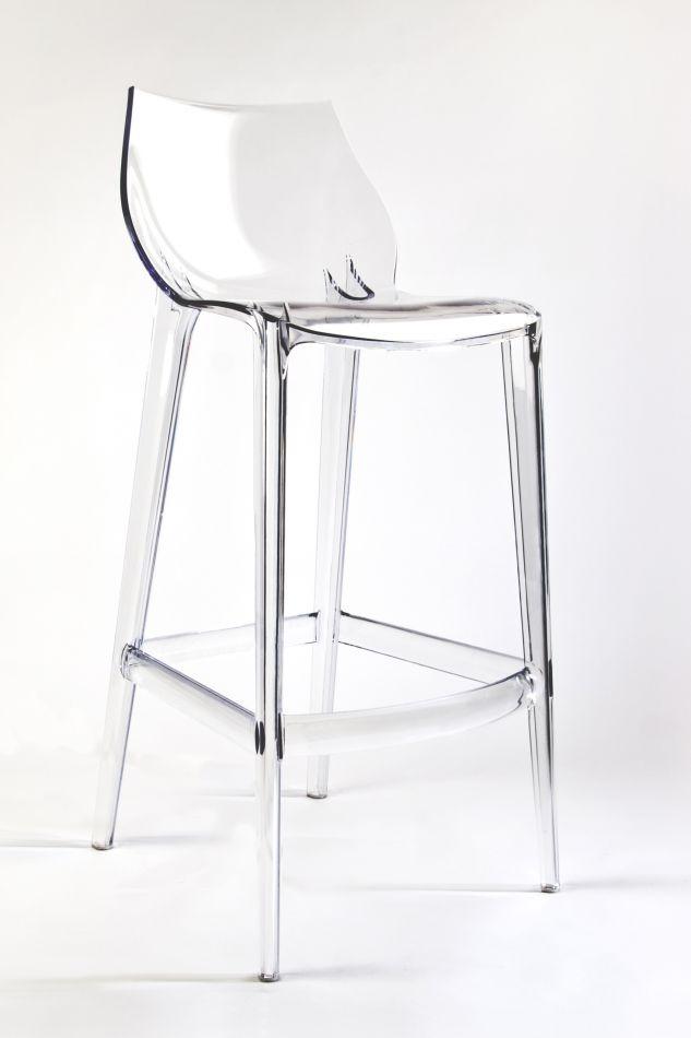 tabouret de bar transparent polycarbonate mahi mahi neutral h 76. Black Bedroom Furniture Sets. Home Design Ideas