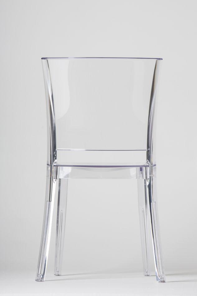 Chaise transparente polycarbonate lucienne neutre for Sedie tinello