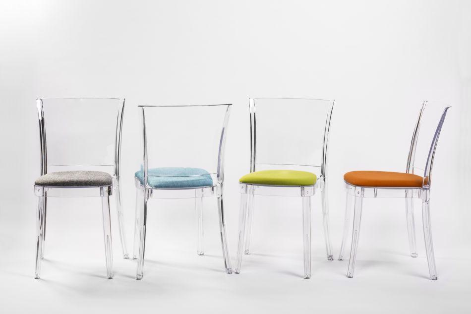 chaise transparente polycarbonate lucienne neutre. Black Bedroom Furniture Sets. Home Design Ideas