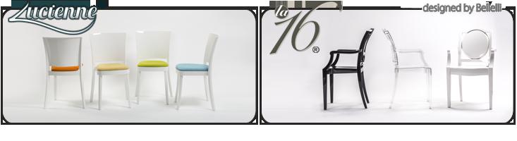 Transparent chair polycarbonate lucienne neutral - Chaise en polycarbonate transparent ...