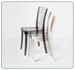 Polycarbonate Transparent Chair LUCIENNE Pallet 18 pieces