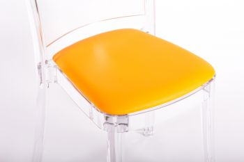 faux leather NABUK cushion for Lucienne chair - ORANGE YELLOW