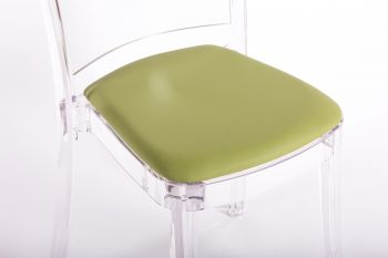 faux leather NABUK cushion for Lucienne chair - GREEN MOSS