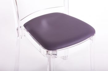 faux leather NABUK cushion for Lucienne chair - VIOLET