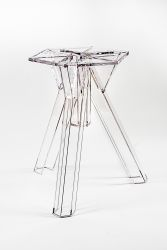 Transparent Polycarbonate Design Table Base Ometto