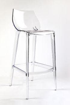 Transparenter Barhocker aus Polycarbonat MAHI MAHI - Neutro - H 76