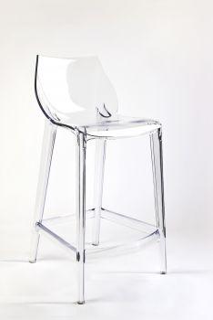 Transparenter Küchenhocker aus Polycarbonat MAHI MAHI - Neutral - H 66