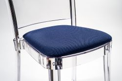 "TREVIRA KAT cushion for Lucienne chair - Ultramarine ""Bicolor"""