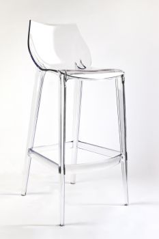 Transparent Polycarbonate Stool for Bars Mahi Mahi - Neutral - H 76 - Pallet 8 pieces