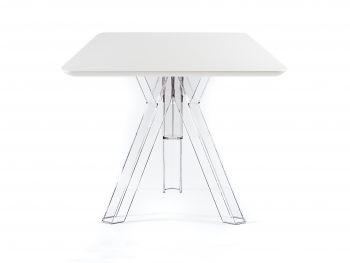 Mesa Cuadrada Trasparente Policarbonato Design Ometto - cm. 80x80