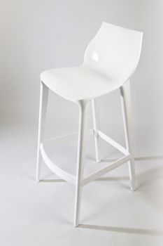 Polycarbonate Kitchen Stool Mahi Mahi - Pure White - H 66