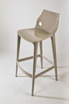 Polycarbonate Stool for Bars Mahi Mahi - Cappuccino colour - H 76