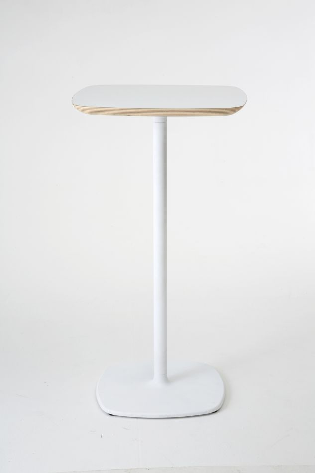 Tavolo Alto Bar Bianco.Tavolo Bar Alto Design Bloum Bianco H 110