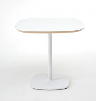 Mesa de barra de diseño BLOUM 60x60 Blanco - h. 74