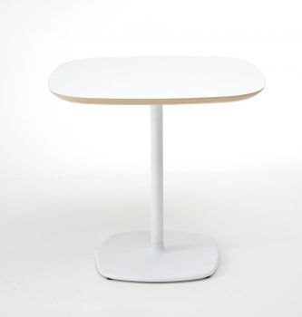 Table de bar design BLOUM 60x60 blanc - h. 74