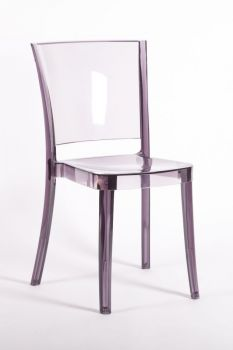 Chaise Transparente Polycarbonate LUCIENNE - Prune