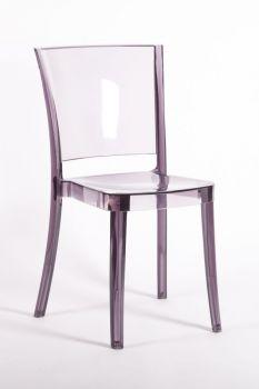 Transparent Chair Polycarbonate LUCIENNE - PLUM