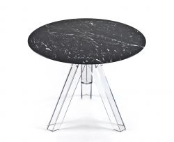 Table Ronde Marbre Noir MARQUINA - Ø90 - OMETTO