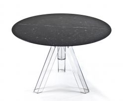 Table Ronde Marbre Noir MARQUINA - Ø107 - OMETTO