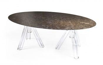 Table Ovale Marbre Brun EMPERADOR - 230x115 - OMETTO
