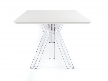 Tavolo Quadrato Trasparente Policarbonato Design Ometto - cm. 90x90