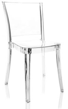 Krzesło przezroczyste z poliwęglanu Lucienne NEUTRALNE