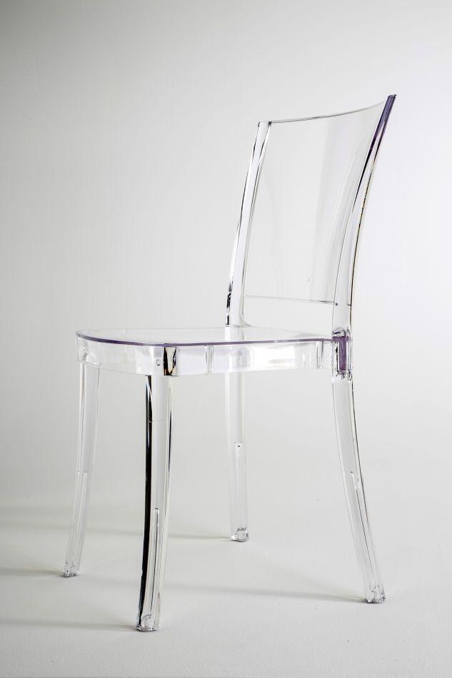 Chaise Transparente Polycarbonate LUCIENNE