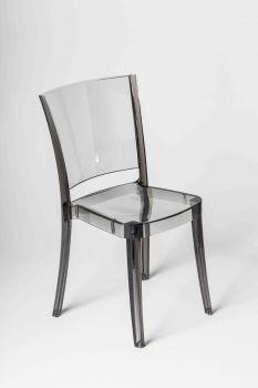 Krzesło przezroczyste z poliwęglanu  Lucienne KOLOR DYMNY