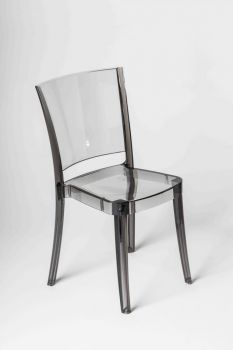 Transparent Chair Polycarbonate LUCIENNE - Fumè 2nd choice
