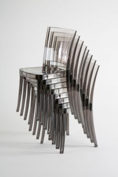 Transparent Chair Polycarbonate LUCIENNE - Pallet 18 pieces - Fumè