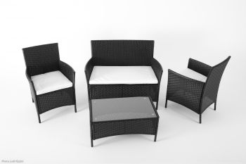 "Drawing room set in rattan model ""Habitat"" - Anthracite"