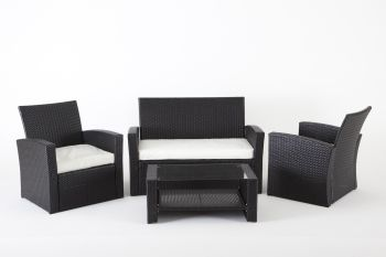 "Drawing room set in rattan model ""Habitat More"" - Anthracite"