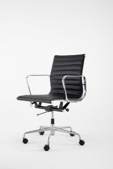 Armchair Mod LUMYAN CHAIR - Short - Riv. Leather - Black