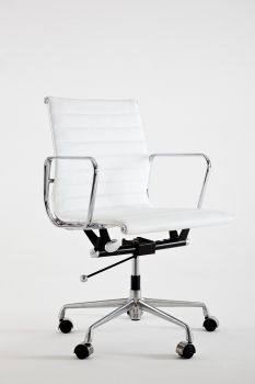 Armchair Mod LUMYAN CHAIR - Short - Riv. Leather - White