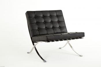 Fauteuil Elegance revêtement en cuir Noire