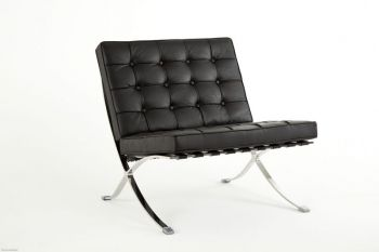 Elegance armchair in leather without Ottoman