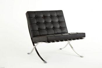 Eleganter Sessel aus Leder ohne Ottomane
