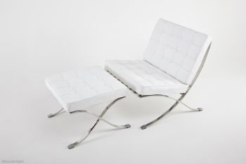 Elegance Chair White leather