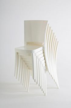Polycarbonate Chair LUCIENNE - Pallet 18 pieces - Pure White