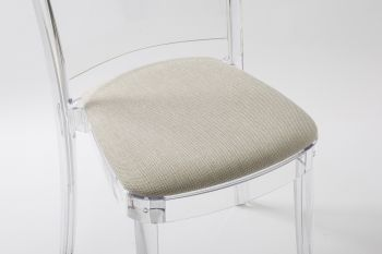 "TREVI cushion for Lucienne chair - Light Turtle-Dove ""Bicolor"""