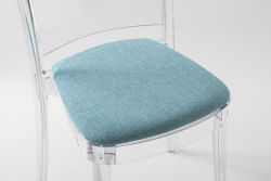 "Coussin TREVI pour chaise Lucienne - Turquoise ""Bicolor"""