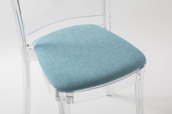 """TREVI cushion for Lucienne chair - Turquoise """"Bicolor"""""""