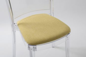 "TREVI cushion for Lucienne chair - Yellow Champagne ""Bicolor"""