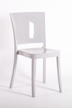 Polycarbonate Chair LUCIENNE - SILVER GRAY