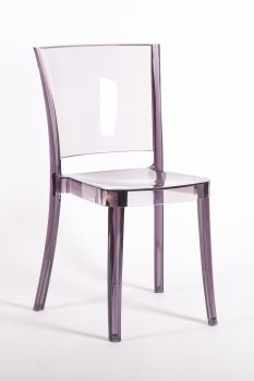 Transparent Chair Polycarbonate LUCIENNE - PLUM