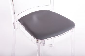 Cojín imitación cuero NABUK para silla Lucienne - ANTRACITA