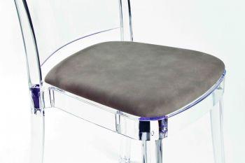 Coussin en faux cuir NABUK pour chaise Lucienne
